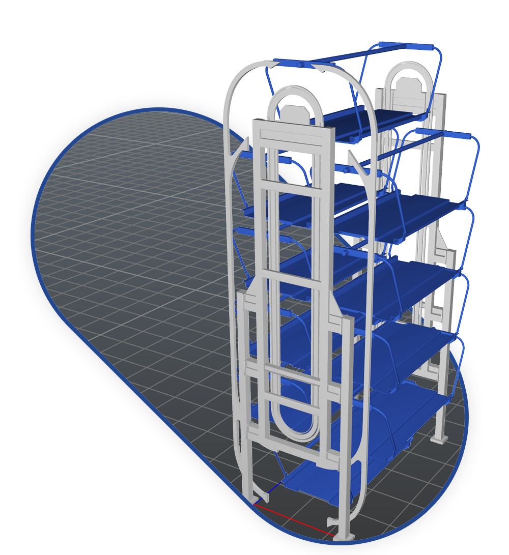 3D model of parking tower